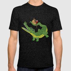 The Alligator and The Armadillo Mens Fitted Tee Tri-Black SMALL
