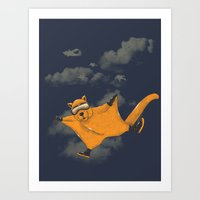 Wingsuit Flyer Art Print