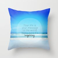 Throw Pillow featuring Inspiring by Sweet Moments Captured
