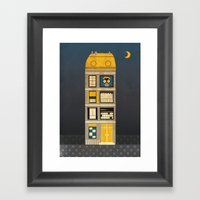 Night spy Framed Art Print