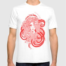 Rose Red.  Mens Fitted Tee White SMALL