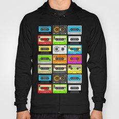 Retro 80s Cassette Tape Pattern Hoody