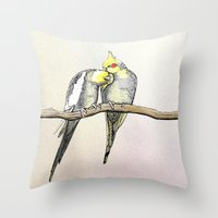 Lovebirds  Throw Pillow