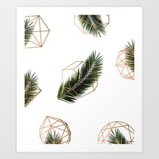 Palm + Geometry V2 #society6 #decor #buyart Art Print