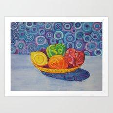 Fruit Bowl Still Life Art Print