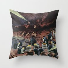 PENGUINS WITH POWERS Throw Pillow