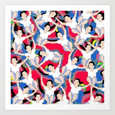 CIRCUS MONKEY Art Print