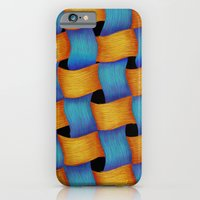 iPhone & iPod Case featuring Woven - Pattern Painting by Nicole Cleary