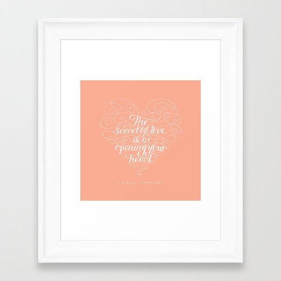 Secret Of Love Framed Art Print