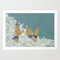 Three Ama Enveloped In A… Art Print
