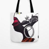 African Portrait Tote Bag