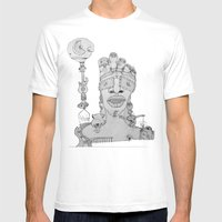 Face Balloon Mens Fitted Tee White SMALL
