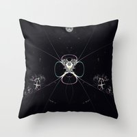 Flower In Space Throw Pillow