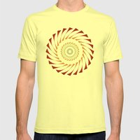 Circle 3B Mens Fitted Tee Lemon SMALL
