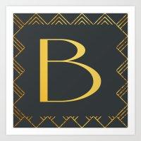 Art Deco Monogram - B Art Print