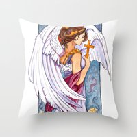 Giovanna - Art Nouveau A… Throw Pillow
