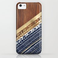 Navy & Gold Tribal On Wo… iPhone 5c Slim Case