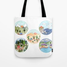 Campsite Selection Tote Bag