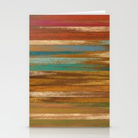wood panel multicolor Stationery Cards