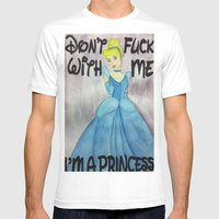 princess Mens Fitted Tee White SMALL