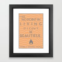 Howl's Moving Castle Bea… Framed Art Print
