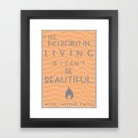 Howl's Moving Castle Bea… Framed Art Print