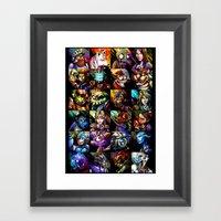 Videogame MashUP Framed Art Print