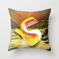 crazy egos Throw Pillow