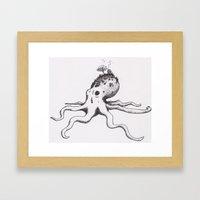 Octo-Hill Framed Art Print