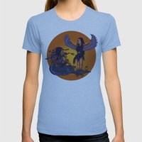 Medusa Of Music Meets Li… Womens Fitted Tee Athletic Blue SMALL