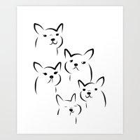Mate,Friends,French bulldog Art Print