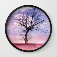ATMOSPHERIC TREE | Early Spring Wall Clock