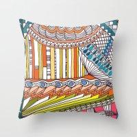 C13 doodle 6 Throw Pillow