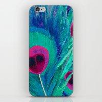Peacocks Feathers iPhone & iPod Skin