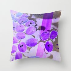 Mini Water Lilies and Water Bug Throw Pillow