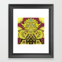 Mandala Man Framed Art Print