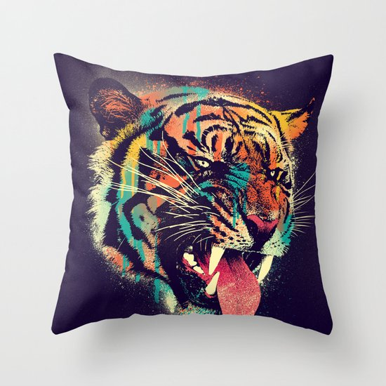 FEROCIOUS TIGER Throw Pillow