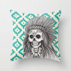 Calavera Skull Throw Pillow