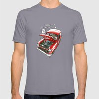Mini Cooper Classic in Red Mens Fitted Tee Slate SMALL
