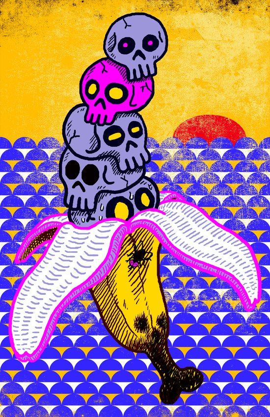 Death by Banana Art Print