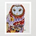 Owl Aura 2 Art Print