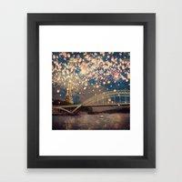 Love Wish Lanterns Over … Framed Art Print