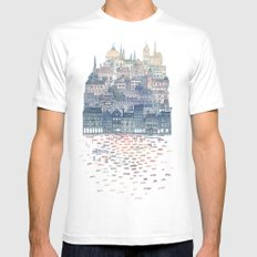 Serenissima White Mens Fitted Tee SMALL