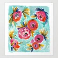 Rain Flower Art Print