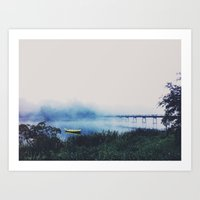 Fog Over the River Shannon Art Print