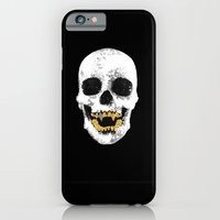iPhone Cases featuring Snake Skin Skull by theleauxdown