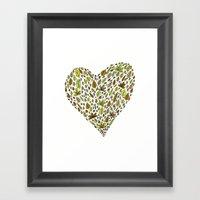 Lovely Green Leaves Framed Art Print