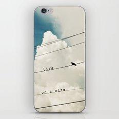 Bird on a Wire iPhone & iPod Skin