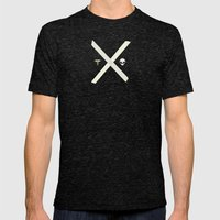 Mulder and Scully Mens Fitted Tee Tri-Black SMALL