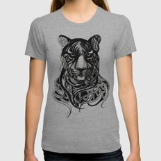 Tiger - Original Drawing  Womens Fitted Tee Athletic Grey SMALL